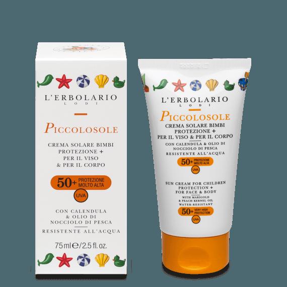 PiccolosoleCr.sol.Bimbi Protezione+ SPF50+ 75 ml L' Erbolario