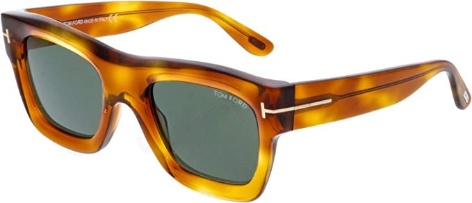 Tom Ford - Occhiale da Sole Uomo, WAGNER, Blonde Havana/Green Shaded  FT0558 (53N)  C52