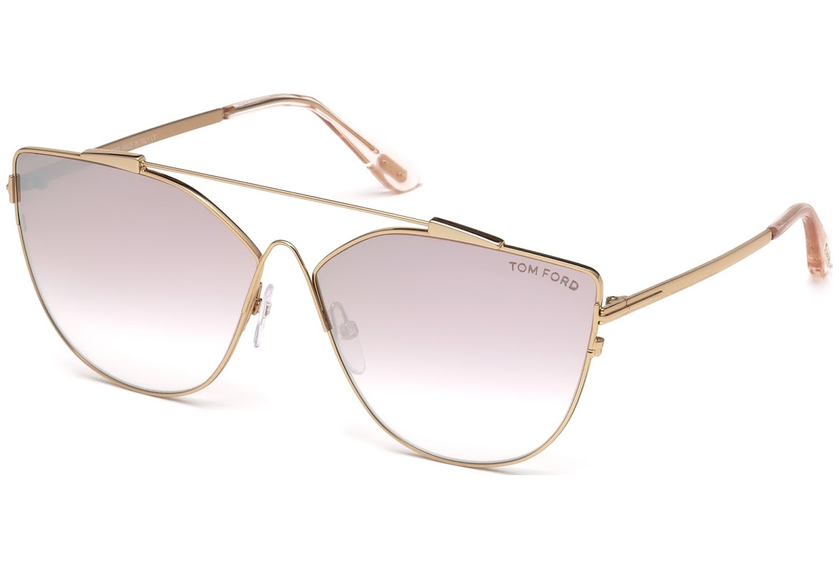 Tom Ford - Occhiale da Sole Donna, JACQUELYN-02, Shiny Gold/Light Lilac Shaded  FT0563 (33Z)  C64