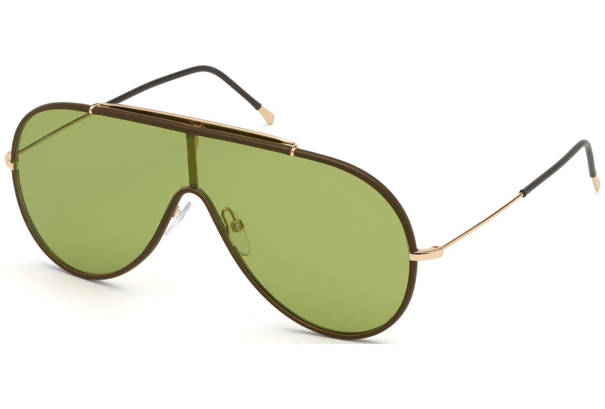 Tom Ford - Occhiale da Sole Unisex, MACK, Matte Brown/Green Shaded  FT0671 (48N)  C00