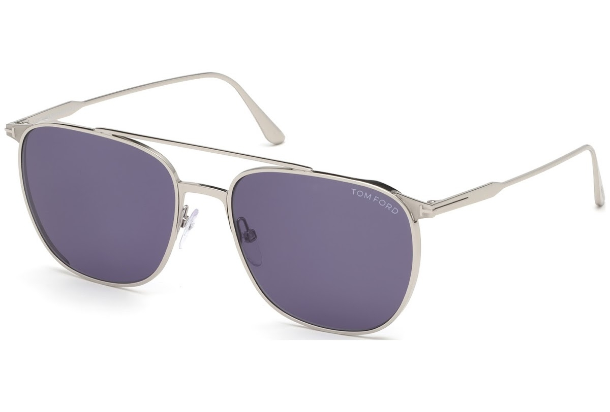 Tom Ford - Occhiale da Sole Uomo, KIP, Silver/Violet Shaded  FT0692 (16V)  C58