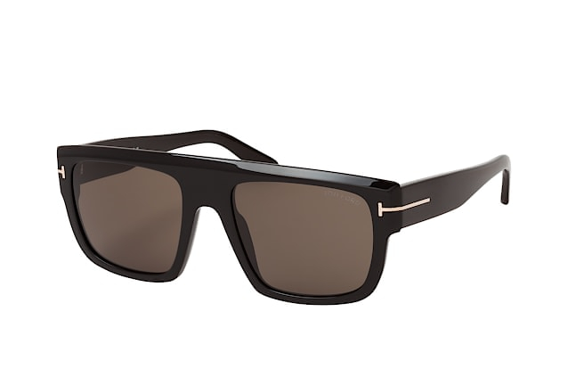 Tom Ford - Occhiale da Sole Uomo, ALESSIO, Shiny Black/Smoke Grey Shaded FT0699 (01A)  C57