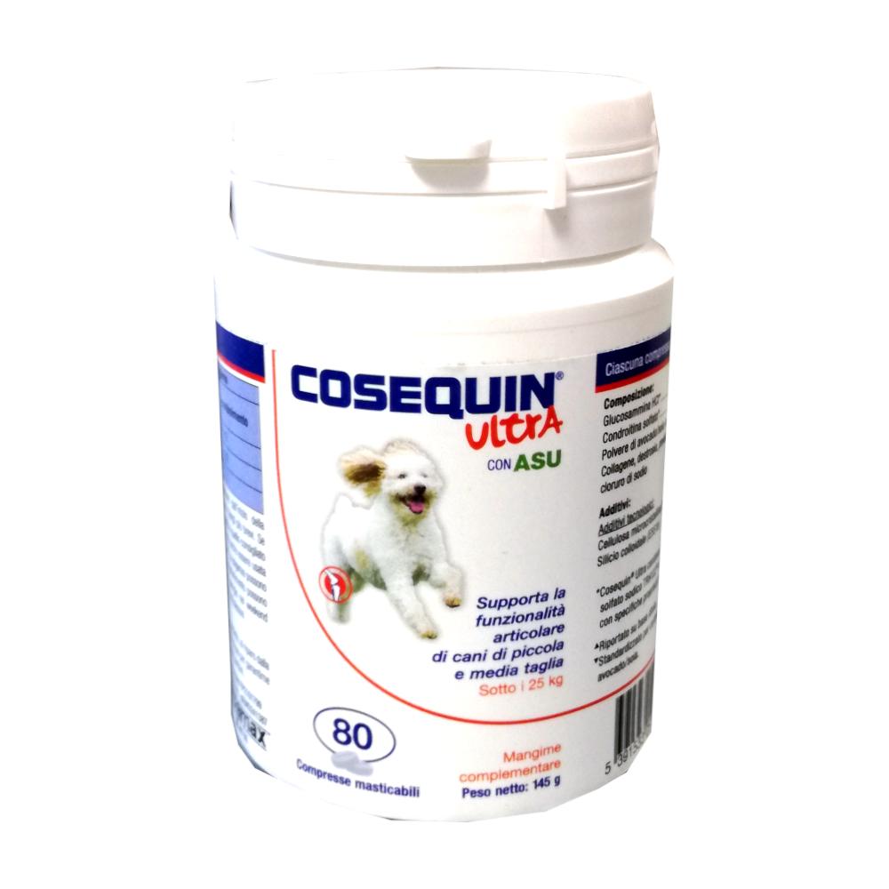 COSEQUIN ULTRA (80 CPR) - CURA E PROTEGGE LE ARTICOLAZIONI DEI CANI FINO A 25 KG