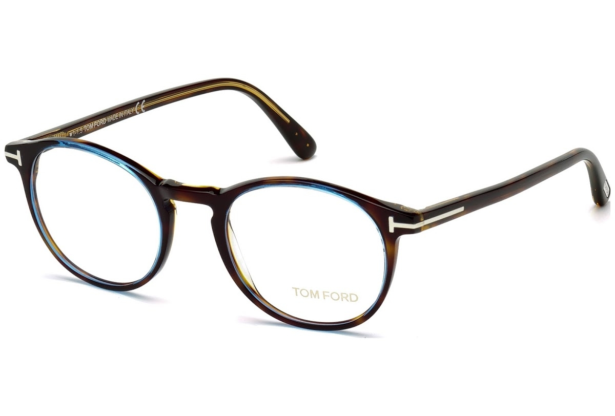 Tom Ford - Occhiale da Vista Uomo, Havana Azure  FT5294  (056)  C48