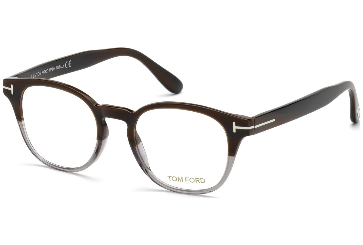 Tom Ford - Occhiale da Vista Unisex, Brown Horn Grey  FT5400  (065)  C48
