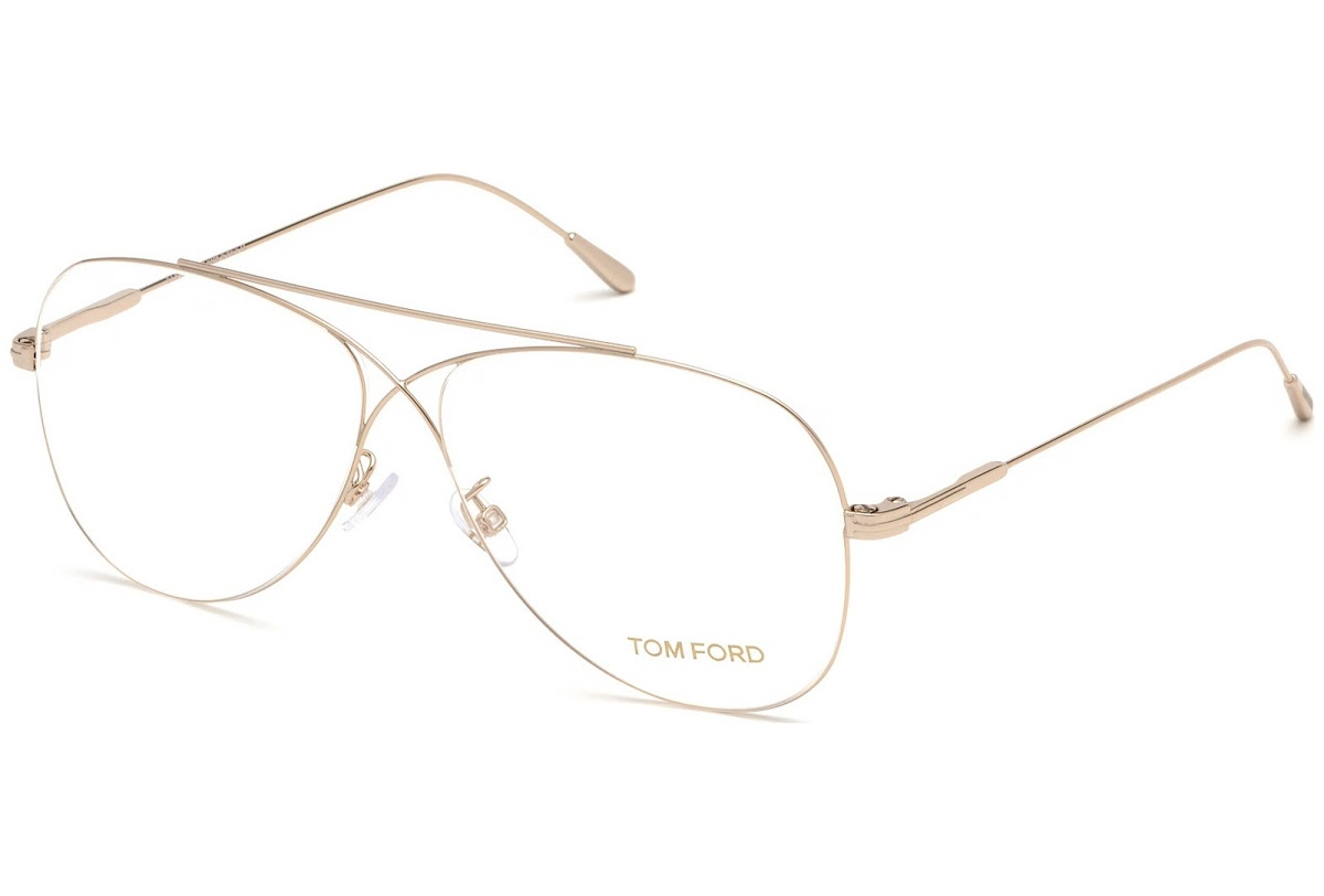 Tom Ford - Occhiale da Vista Unisex, Matte Gold  FT5531  (028)  C56
