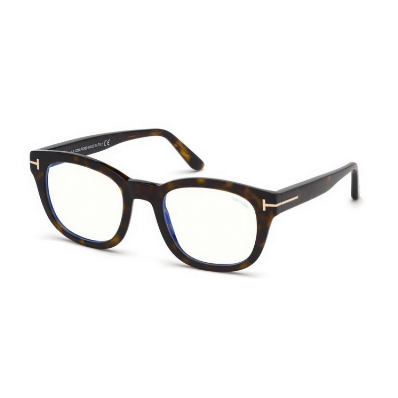 Tom Ford - Occhiale da Vista Uomo, BLUE BLOCK, Dark Havana  FT5542-B  (052)  C50