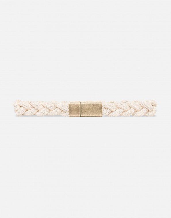 Cintura in corda avorio