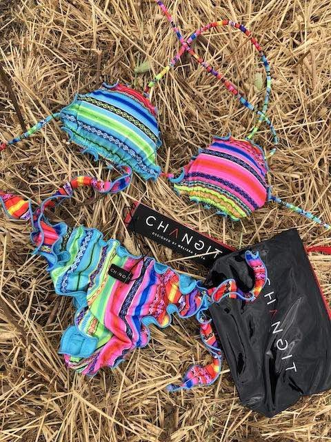 Bikini triangolo e slip nodi Rainbow Changit