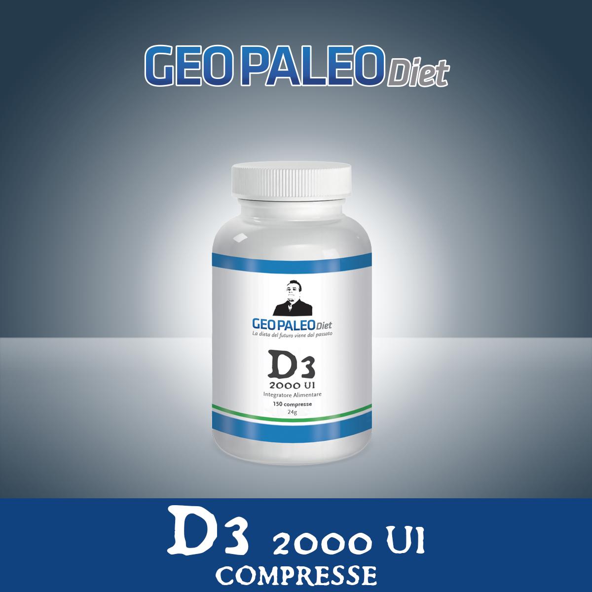 Vitamina D3 Alto Dosaggio 2000 UI in mini-compresse - Senza Biossido di Titanio/Silicio