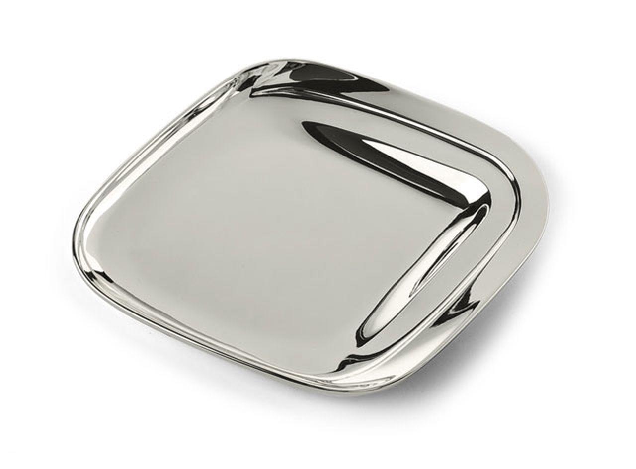Piattino quadrato silver plated cm.13x11,5x3,5h