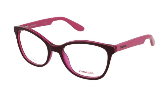 Carrera - Occhiale da Vista Girl, CARRERINO 50 JUNIOR, Violet Dark Pink HNM  C49