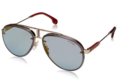 Carrera - Occhiale da Sole Uomo, GLORY LIMITED EDITION, Matte Gold-Red/Blue Shaded  LKS 2Y  C58