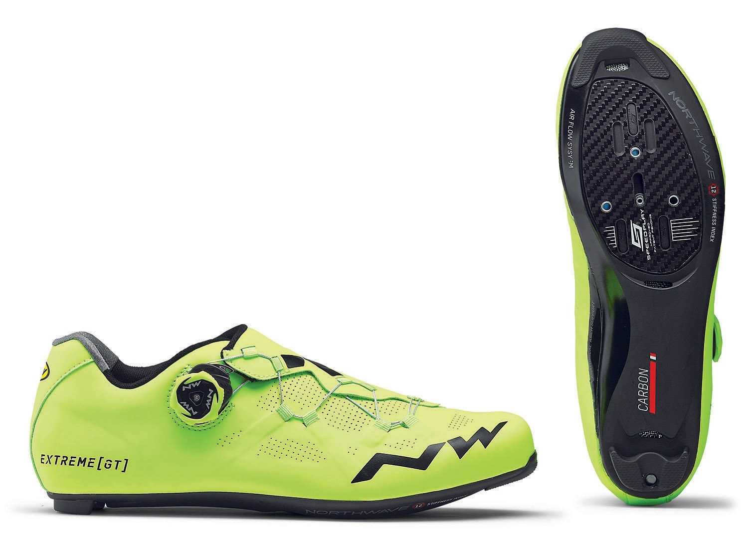 NORTHWAVE Man road cycling shoes EXTREME GT yellow fluo