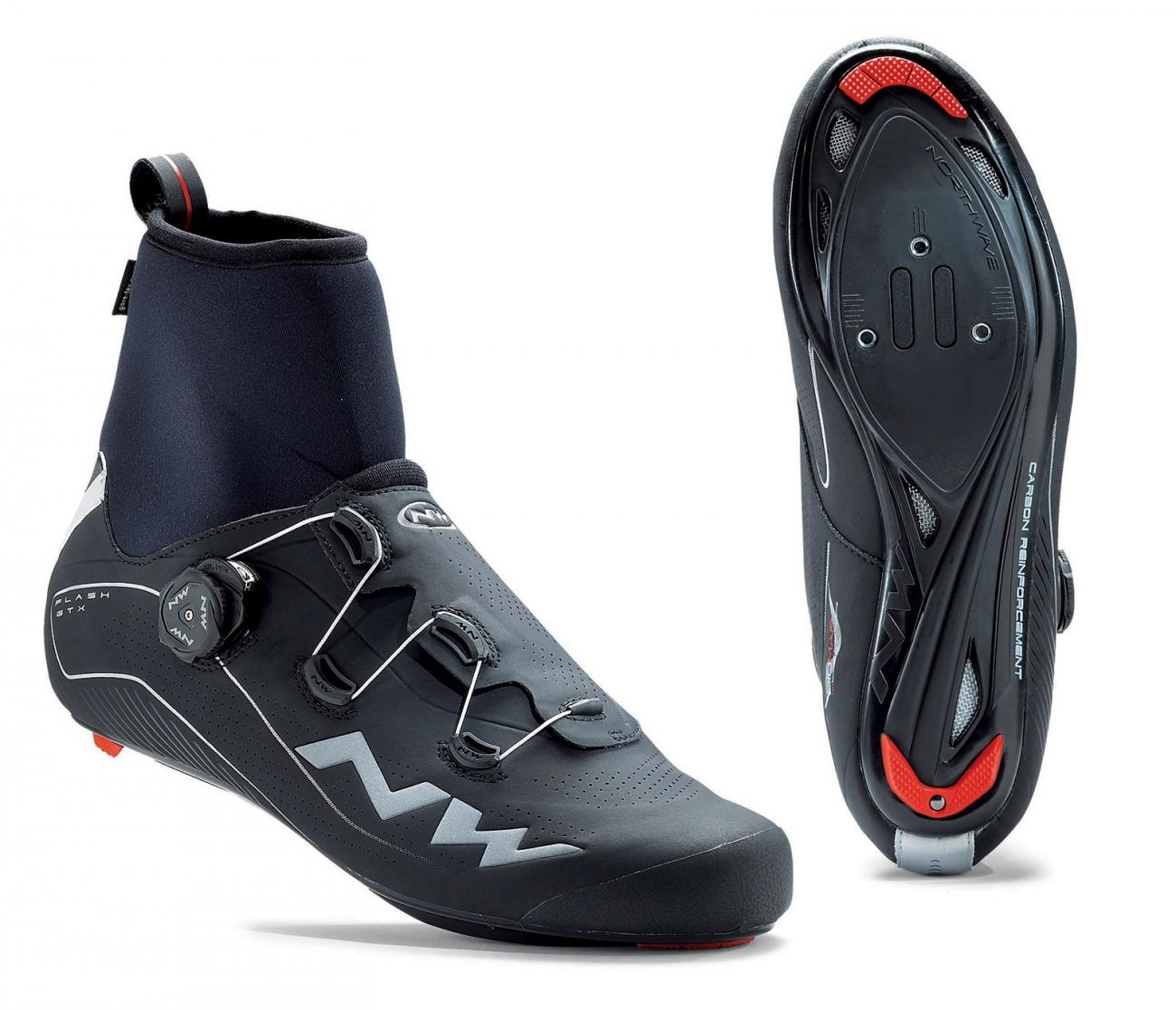 NORTHWAVE Man road cycling shoes FLASH GTX black