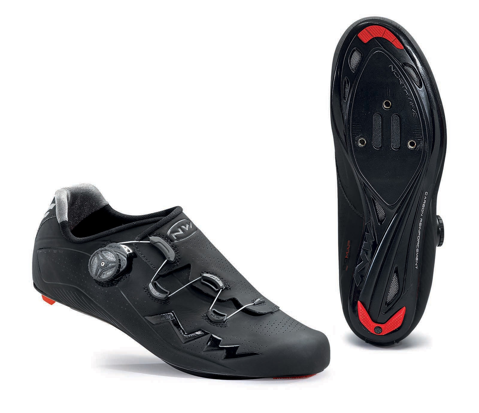 NORTHWAVE Man road cycling shoes FLASH black