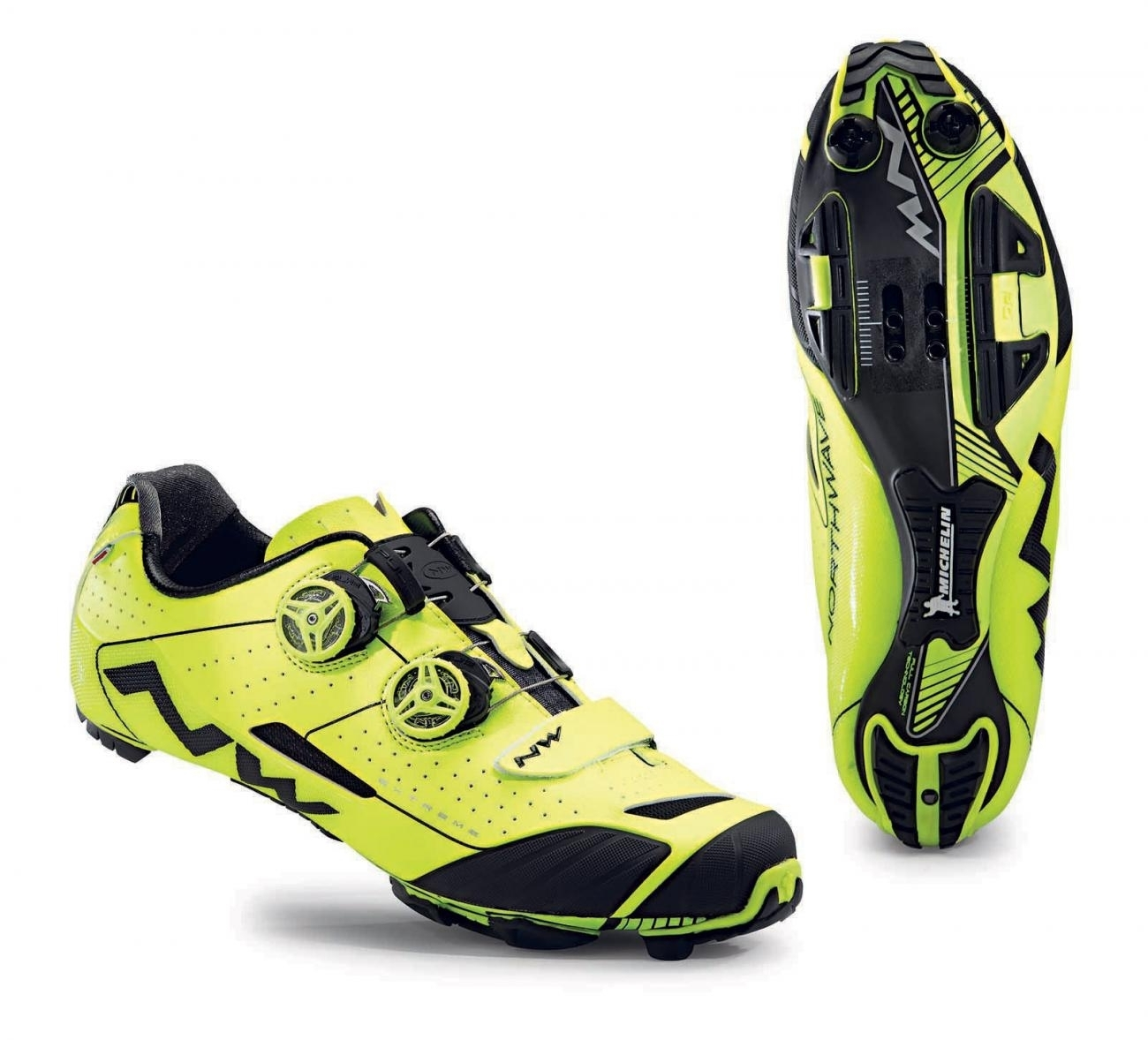 NORTHWAVE Man MTB XC shoes EXTREME XC fluo yellow