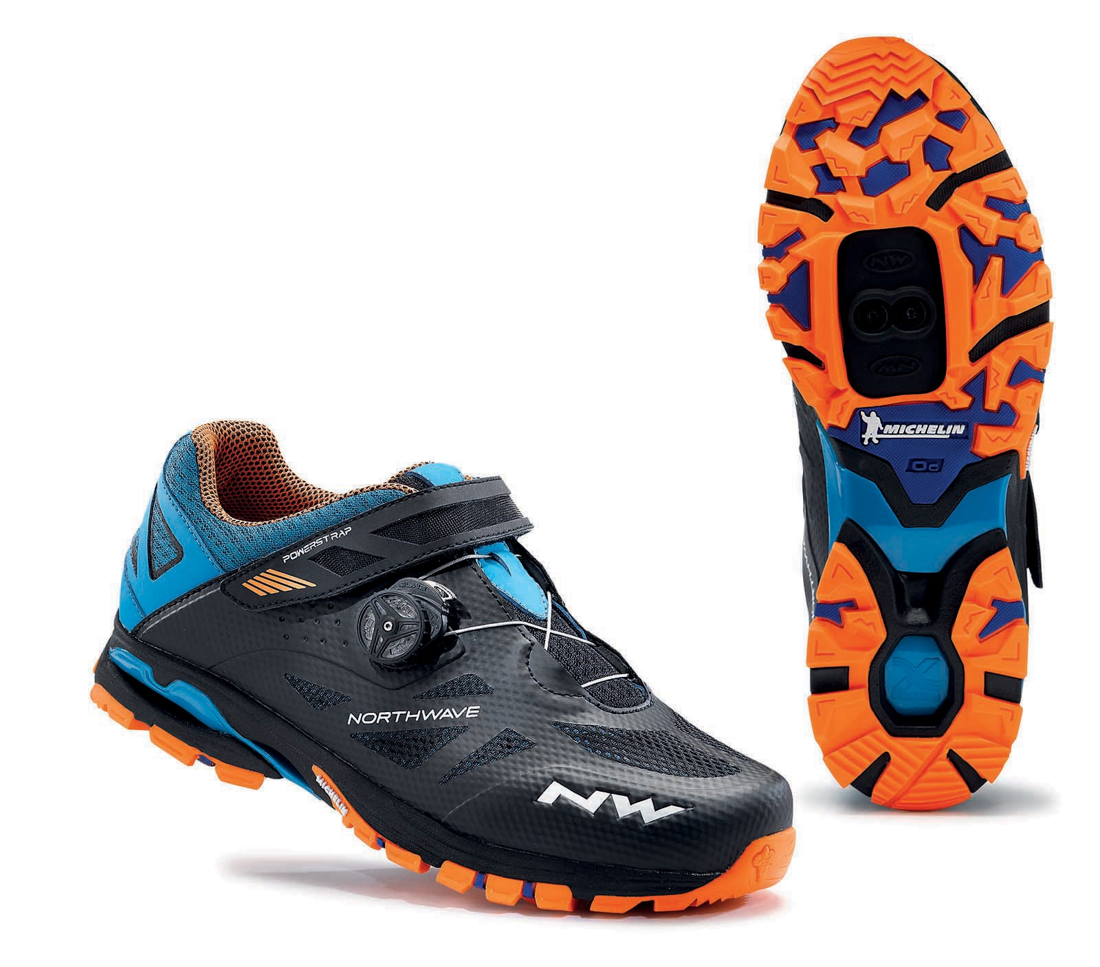 NORTHWAVE Man MTB all mountain shoes SPIDER PLUS 2 black/blue/orange