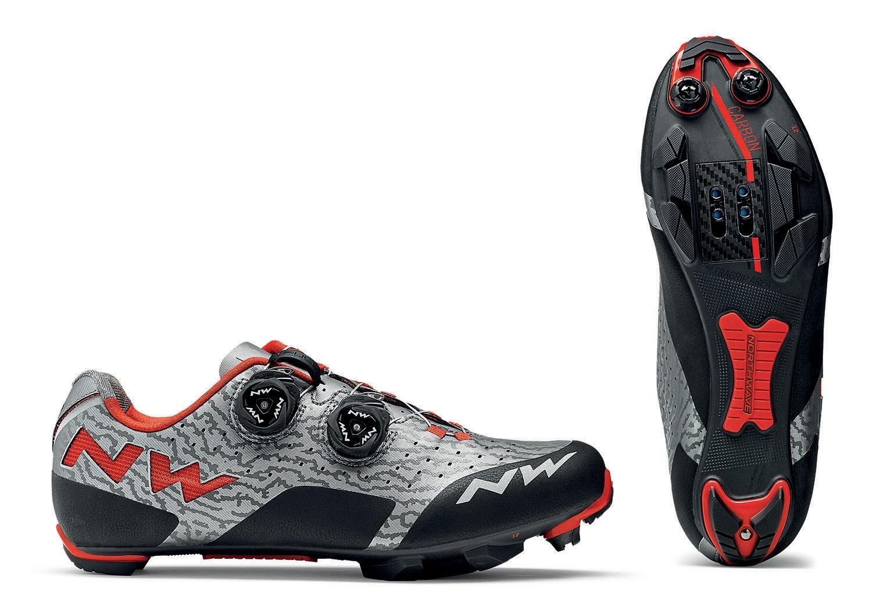 NORTHWAVE Man MTB XC shoes REBEL grey/red