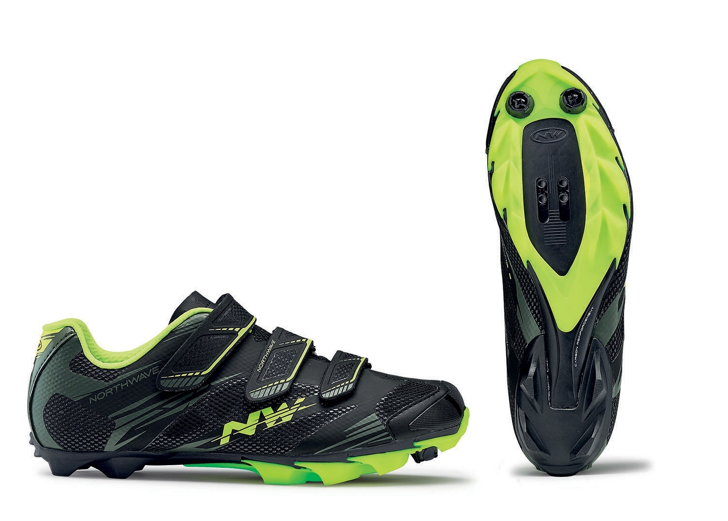 NORTHWAVE Man MTB XC shoes SCORPIUS 2 black/military/yellow fluo