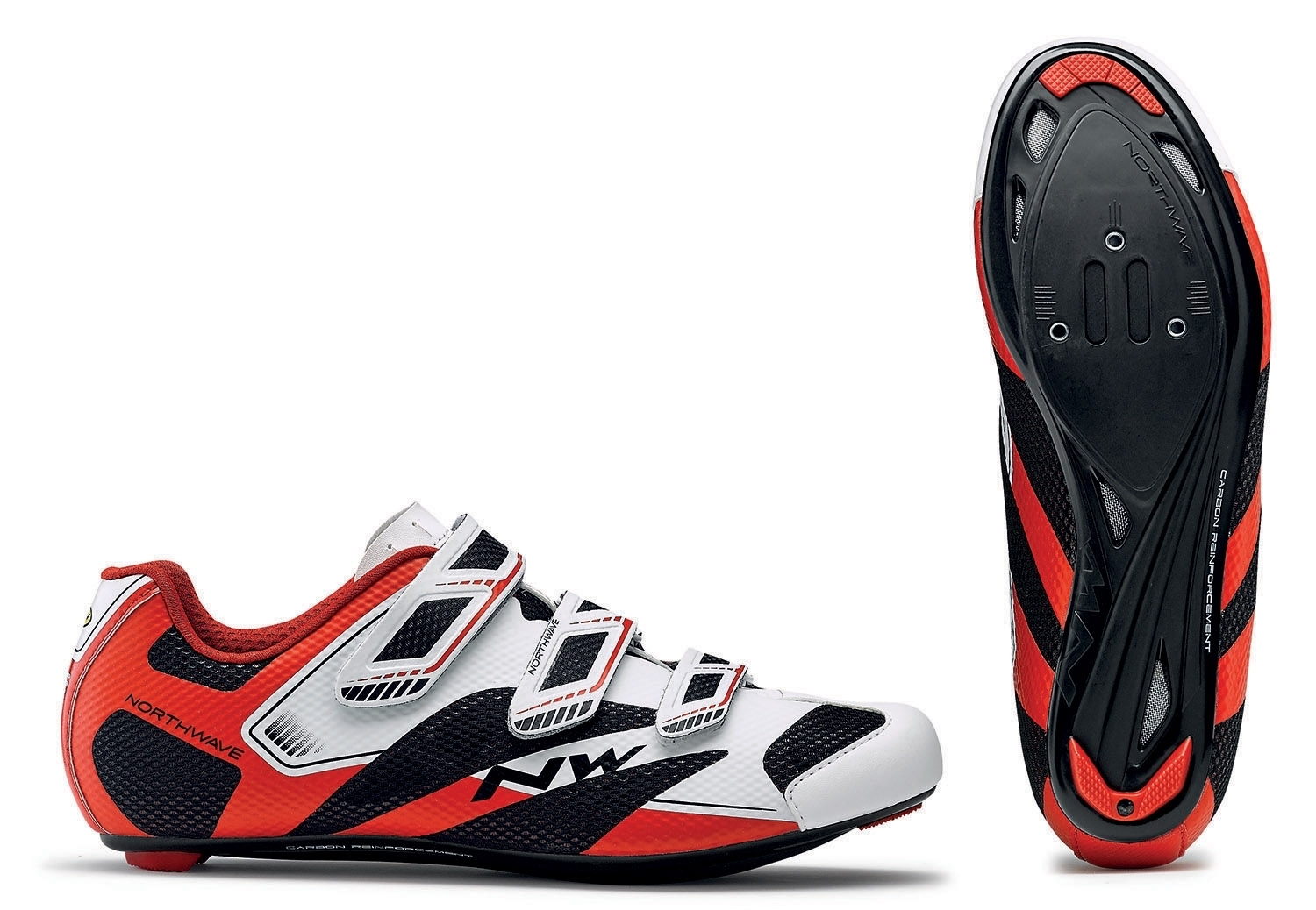 NORTHWAVE Man road cycling shoes SONIC 2 white/black/red