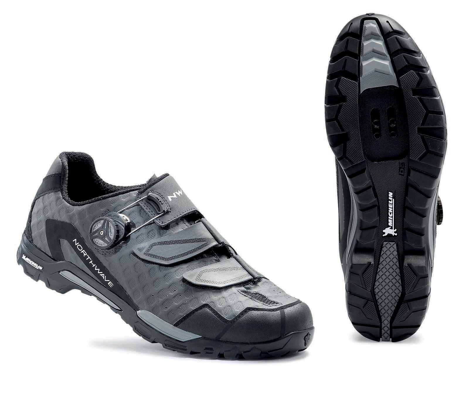 NORTHWAVE Man MTB trail shoes OUTCROSS PLUS anthracite grey/black