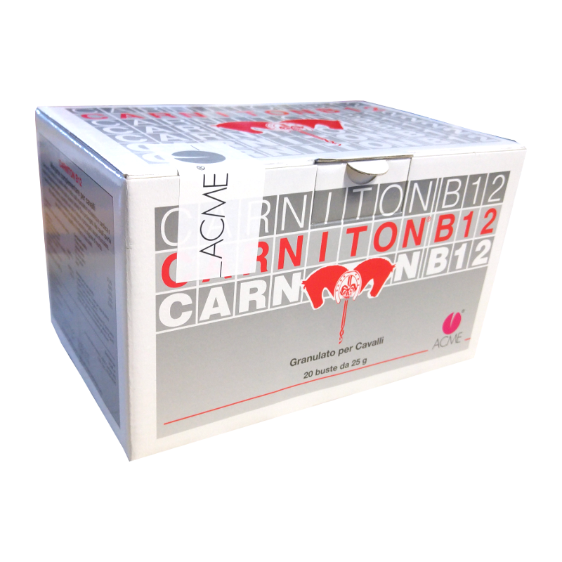 Carniton B12 (20 buste da 25 gr) - integratore per cavalli - migliora le performances