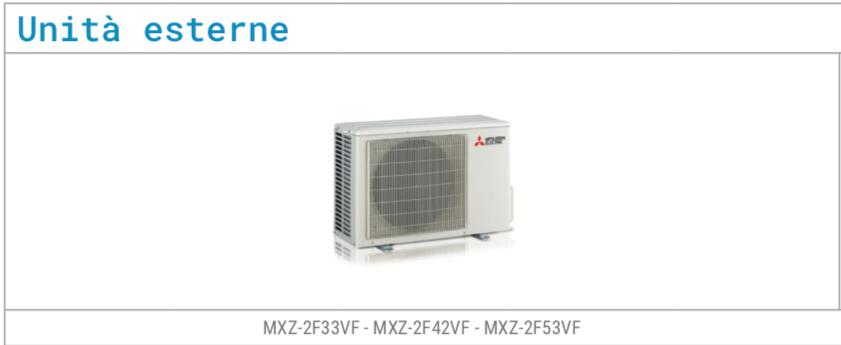 Climatizzatore Mitsubishi Serie MXZ - 2F33V