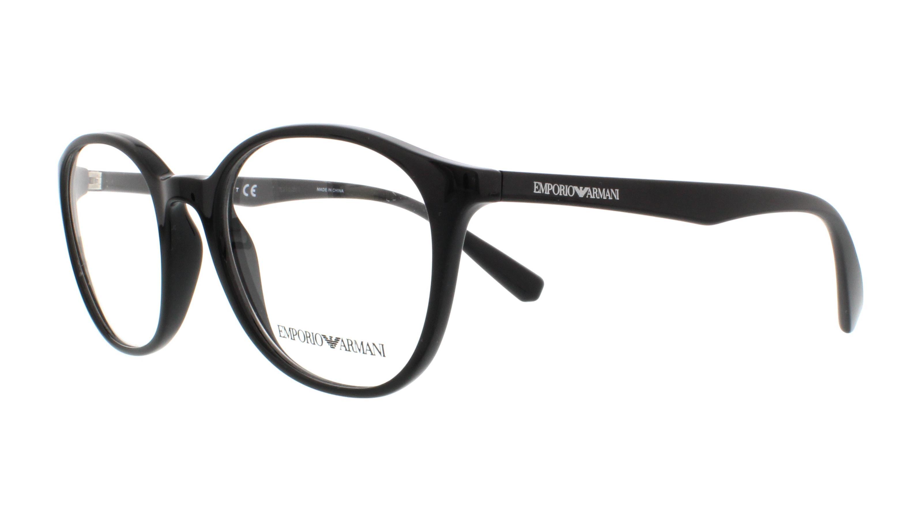 Emporio Armani - Occhiale da Vista Donna, Matte Black  EA3079  5017  C49