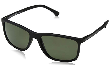 Emporio Armani - Occhiale da Sole Uomo, Black Rubber/Green Shaded  EA4058  5653/9A  C58