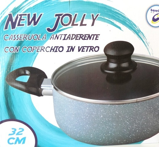 Casseruola New Jolly Antiaderente Da CM32 a CM40