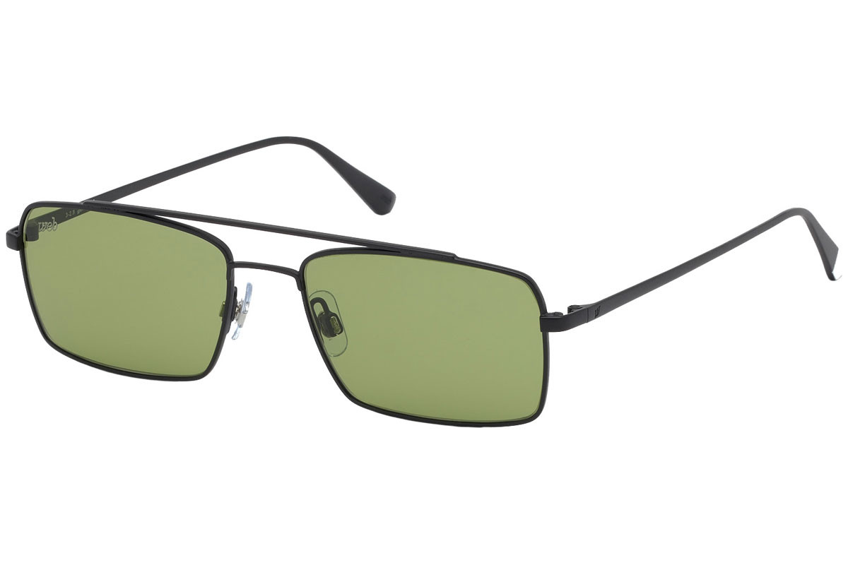 Web - Occhiale da Sole Uomo, Matte Black/Green Gradient  WE0267  02N  C54
