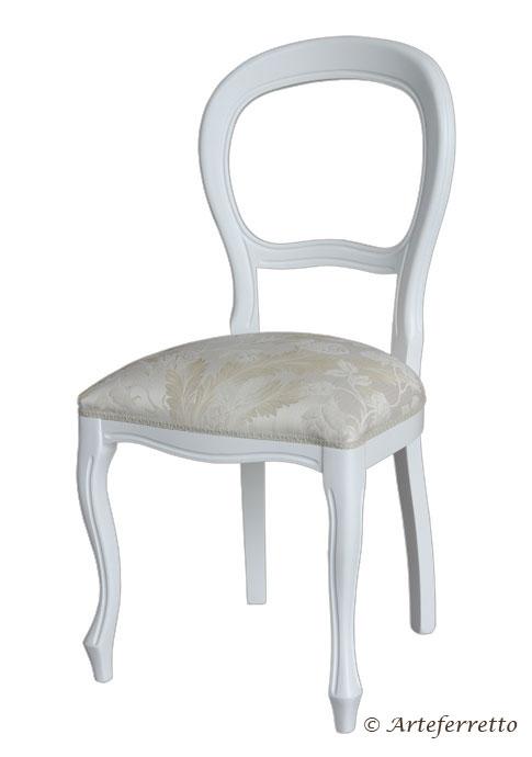 Sedia laccata in stile Luigi Filippo