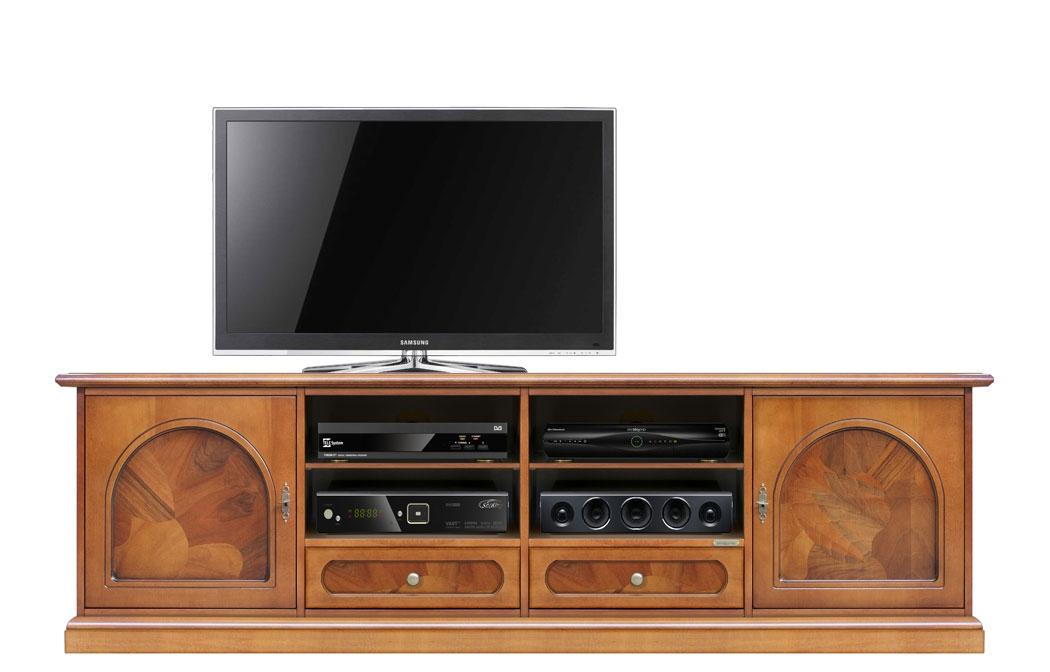 Porta TV classico 2 metri con radica