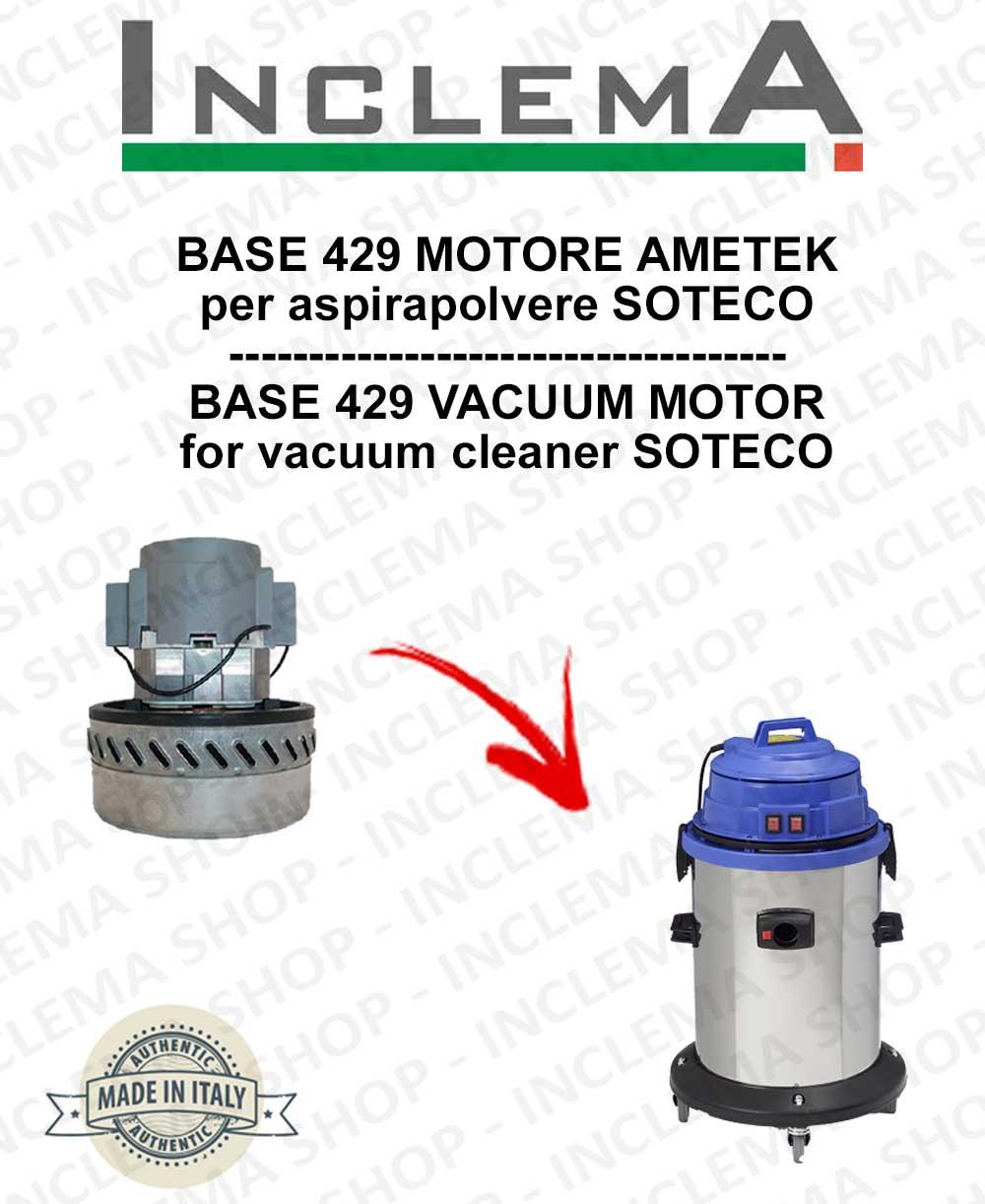 BASE 415 Vacuum Motor Amatek for vacuum cleaner SOTECO