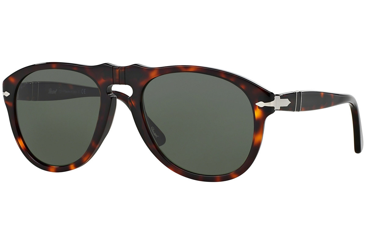 Persol - Occhiale da Sole Uomo, Havana/Green Shaded  PE0649   24/31  C56