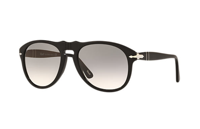 Persol - Occhiale da Sole Uomo, Matte Black/Grey Shaded  PE0649   95/32  C54