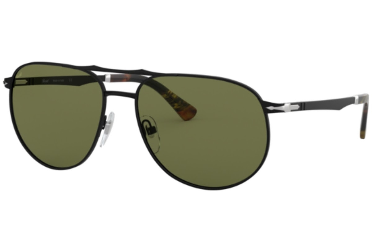 Persol - Occhiale da Sole Uomo, SARTORIA, Black/Green Shaded  PO2455S   1078/4E  C60