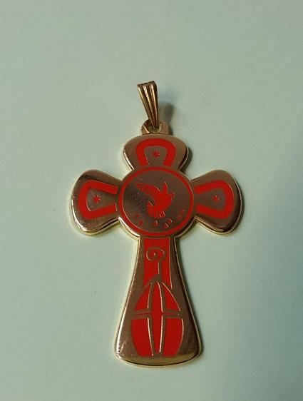 Croce in metallo Cresima cm. 4,5