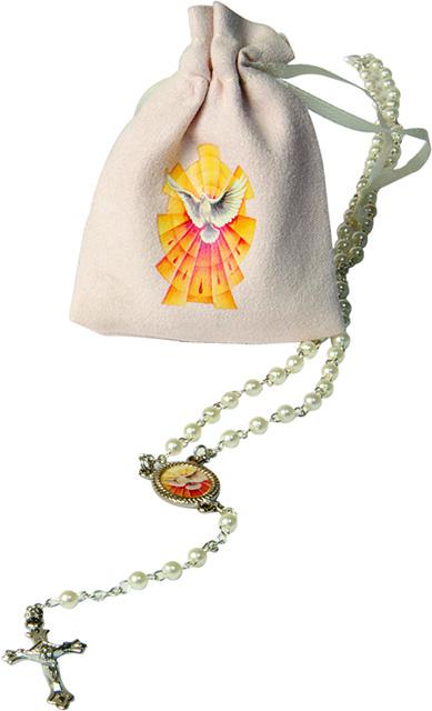 FINE SERIE 17 pezzi - Corona rosario Cresima con sacchettino