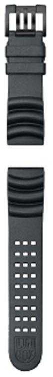 Cinturino Luminox in gomma nera - 24mm