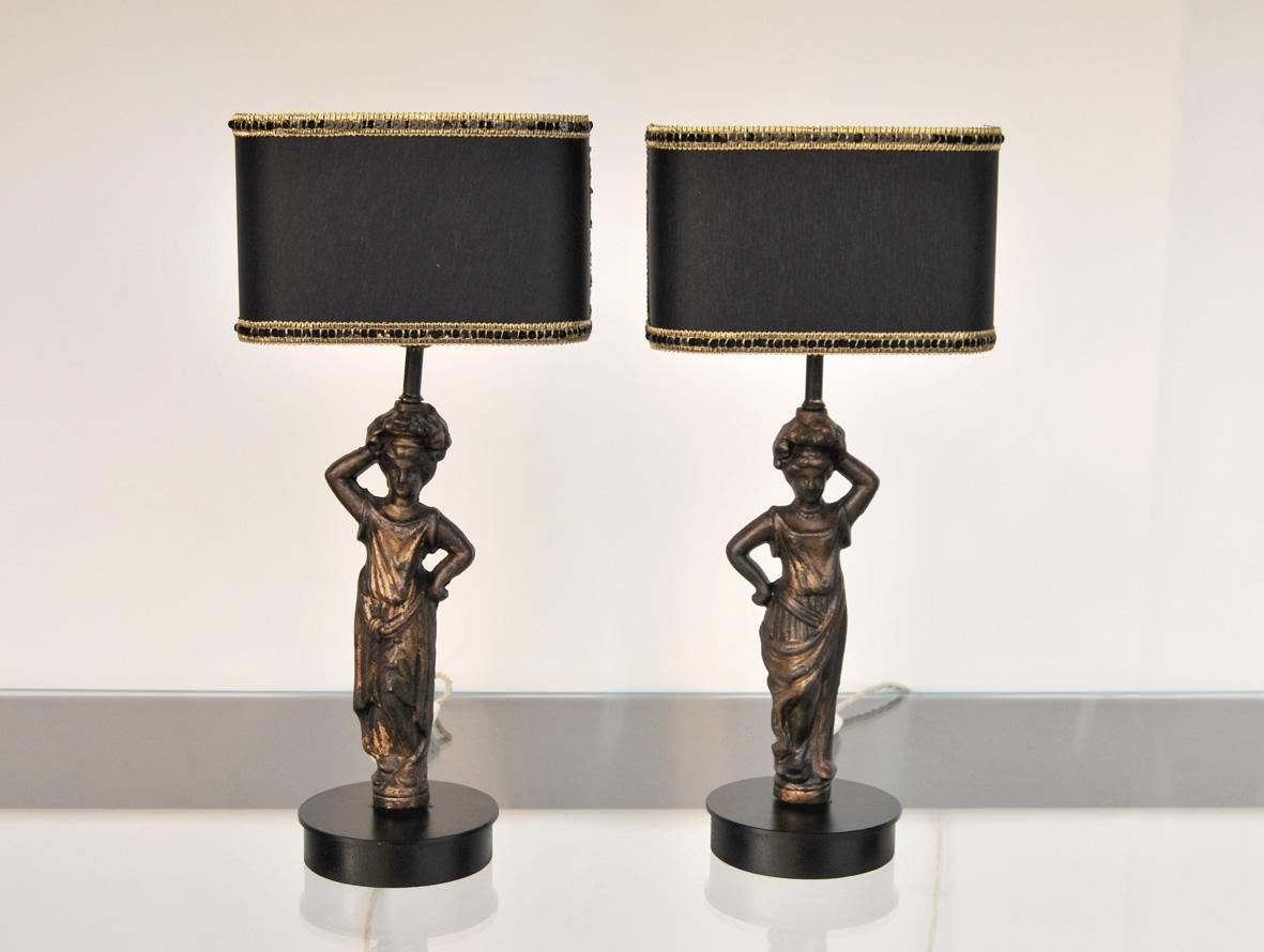 Coppia lampade Le Cariatidi