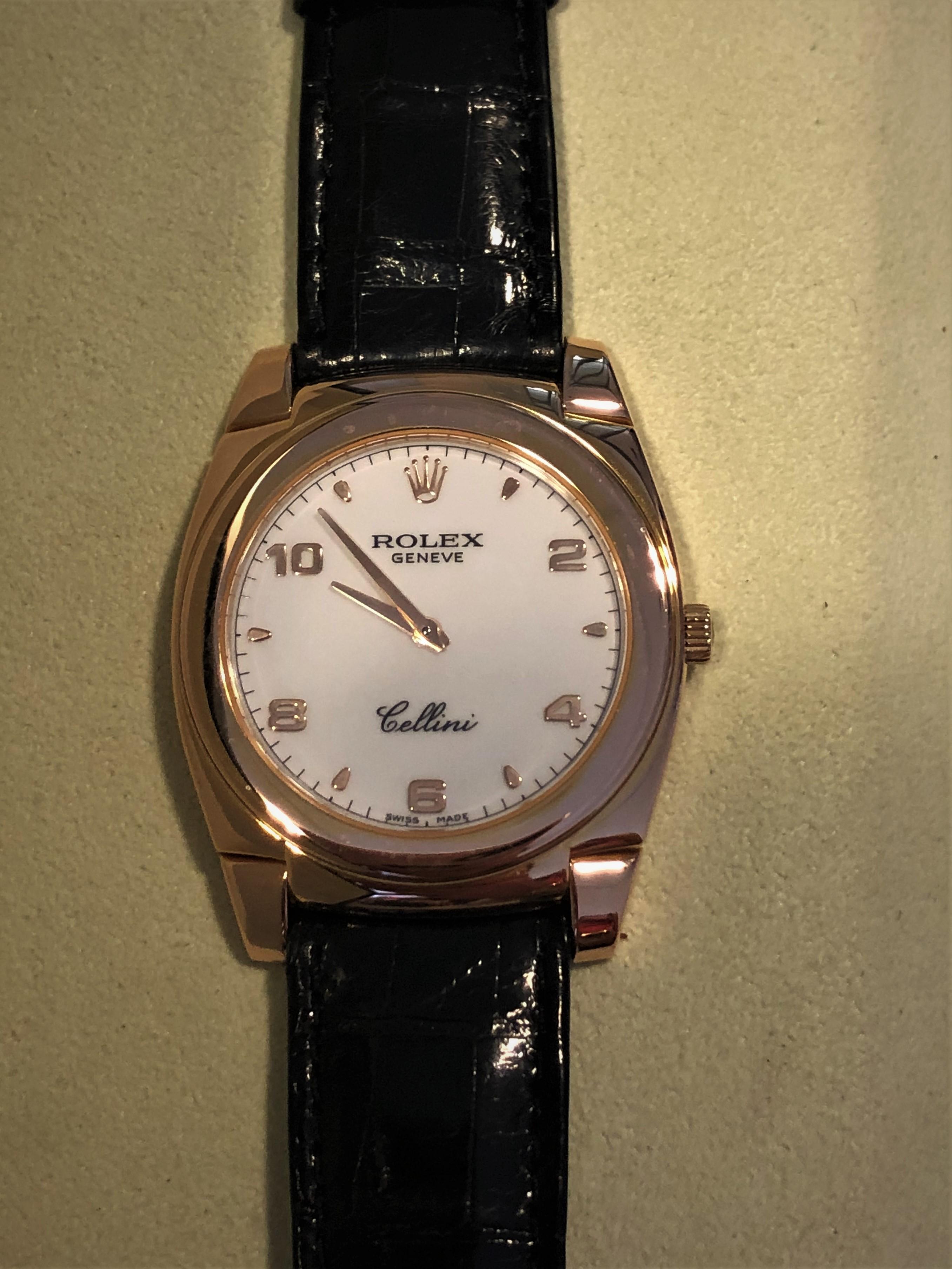 Orologio secondo polso Rolex Cellini oro rosa