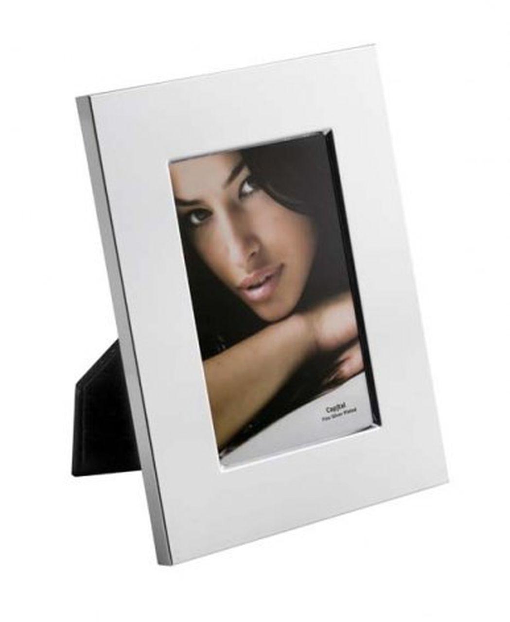 Portafoto in silver plated per foto 15x10cm cm.21,5x16,5x2h