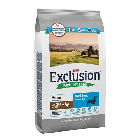 Exclusion Mediterraneo Mature Small al pollo 800gr