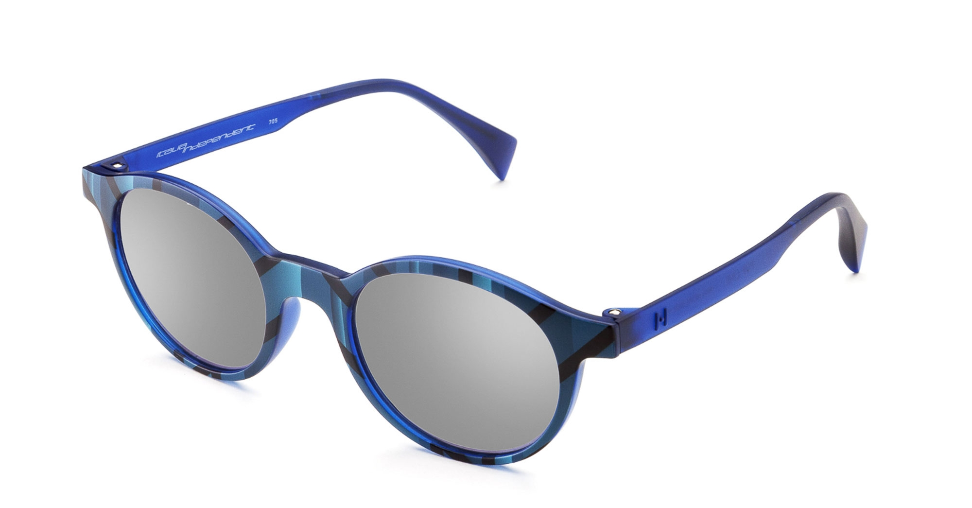 Italia Independent - Occhiale da Sole Unisex Kids, I-I EYEWEAR, Matte Blu/Grey Shaded  ISB004 SCD 022  C45