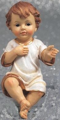 Gesù Bambino in resina cm. 10,5