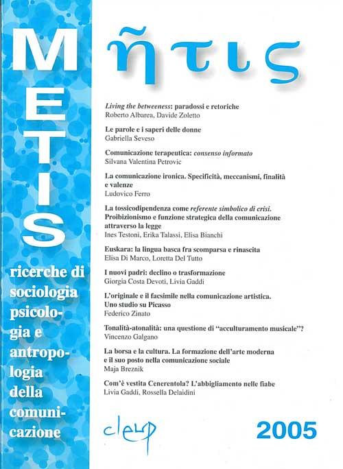 Metis, Vol. XII n. 1