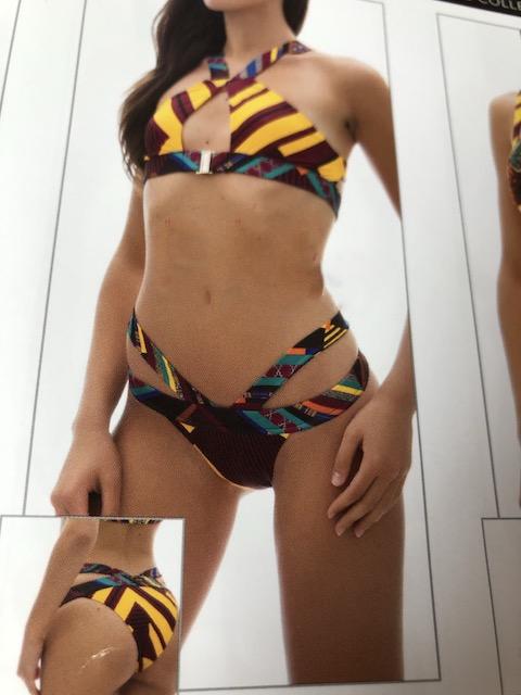 Bikini bralette incrocio e slip fianco  Papunya Effek