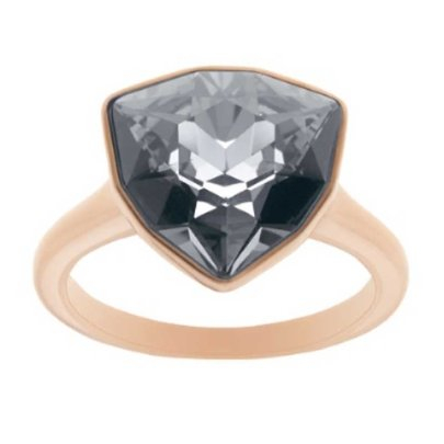Swarovski Brief Rose Gold Plated Grey Triangle Crystal Ring 5098372